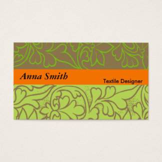 Textile Designer Business Card