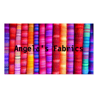 Textile fabric design pack of standard business cards