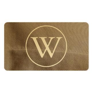 Textile fabric - Professional elegant golden Business Card