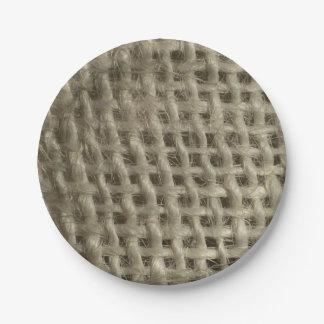 Textile fibres textured paper plates