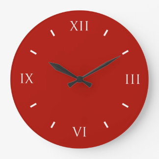 Textile Red High End Colorful Wallclocks