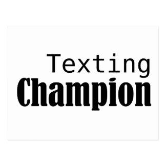 Texting Champion Postcard