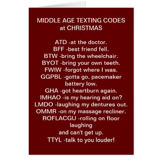 TEXTING CHRISTMAS CARD FOR ALL SENIOR CITIZENS