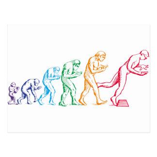 Texting Evolution colors Postcard