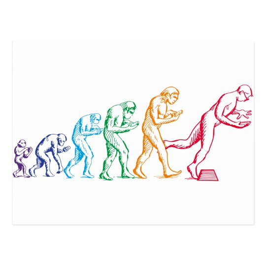 Texting Evolution colours Postcard