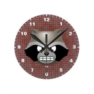 Texting Rocket Emoji Round Clock