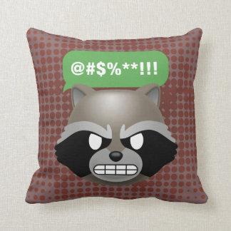 Texting Rocket Emoji Throw Pillow