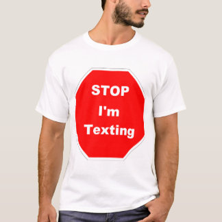 Texting while walking T-Shirt
