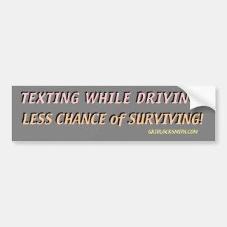 TextingWhileDriving? Bumper Sticker