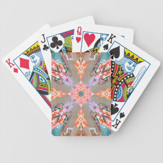 Textural Abstract Kaleidoscope Bicycle Playing Cards