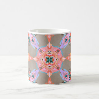 Textural Abstract Kaleidoscope Coffee Mug