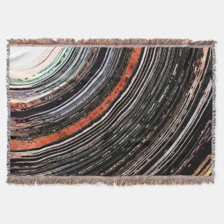 Textural Earth Tone Rings Throw Blanket