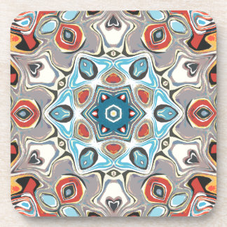 Textural Kaleidoscope Abstract Coaster