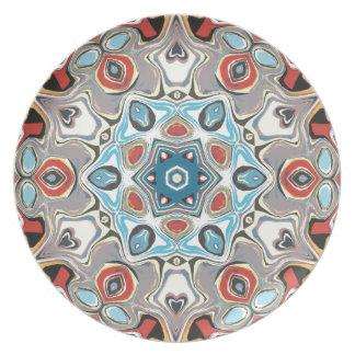 Textural Kaleidoscope Abstract Dinner Plates