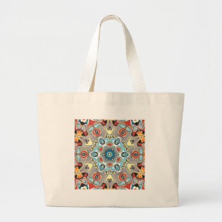 Textural Kaleidoscope Abstract Large Tote Bag