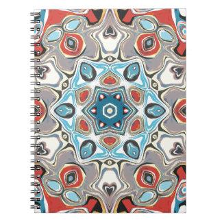 Textural Kaleidoscope Abstract Notebook