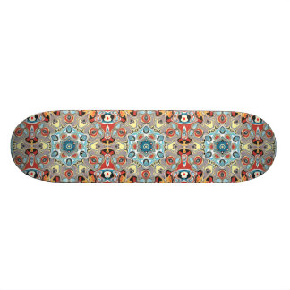 Textural Kaleidoscope Abstract Skateboard