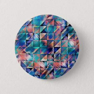 Textural Reflections of Turquoise 2 Inch Round Button