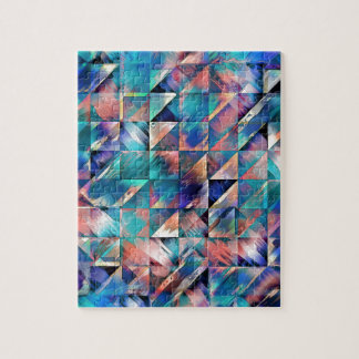 Textural Reflections of Turquoise Jigsaw Puzzle