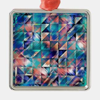 Textural Reflections of Turquoise Metal Ornament