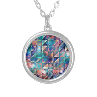 Textural Reflections of Turquoise Silver Plated Necklace