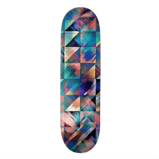 Textural Reflections of Turquoise Skate Board Decks