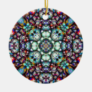 Textural Surfaces of Symmetry Ceramic Ornament