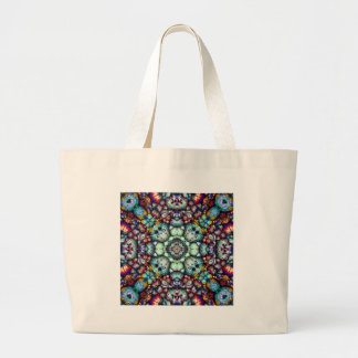 Textural Surfaces of Symmetry Large Tote Bag