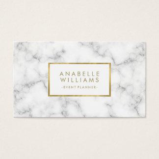Texture à la mode de marbre et d'or de Faux Cartes De Visite