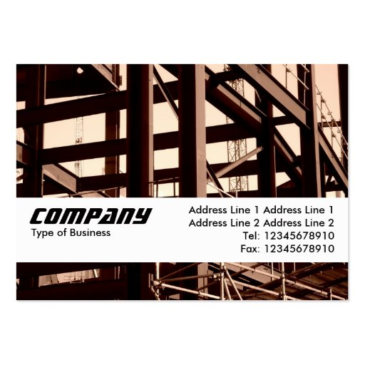 Texture Band - Steel Frame Contruction Business Card Template