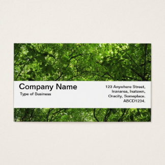 Texture Band V2 - Woodland Canopy Business Card