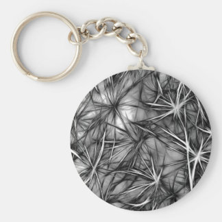 texture basic round button keychain