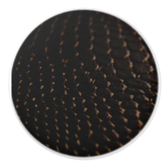 Texture Black Leather Look Ceramic Knob