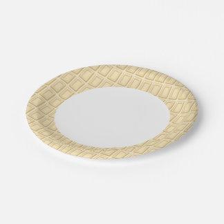 Texture blanche de barre de chocolat assiettes en papier