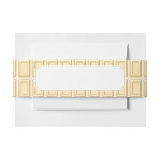 Texture blanche de barre de chocolat bandeau de faire-part
