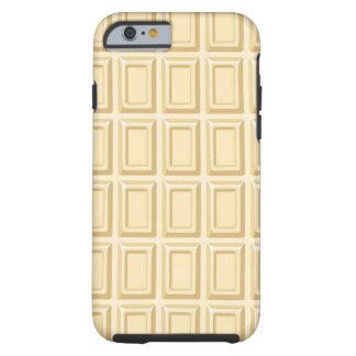 Texture blanche de barre de chocolat coque tough iPhone 6