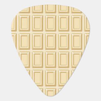 Texture blanche de barre de chocolat onglet de guitare