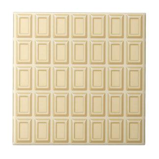 Texture blanche de barre de chocolat petit carreau carré