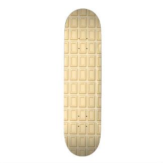 Texture blanche de barre de chocolat plateau de skate