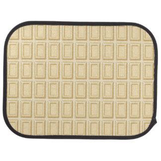 Texture blanche de barre de chocolat tapis de sol