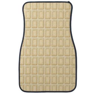 Texture blanche de barre de chocolat tapis de voiture