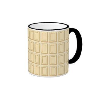 Texture blanche de barre de chocolat tasse