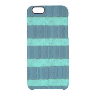 Texture Blue Stripe Deflector Clear iPhone 6/6S Case