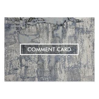 texture croustillante de carte de commentaire carte de visite grand format