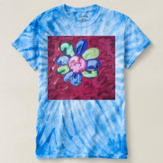 Texture daisy tie dye t-shirt