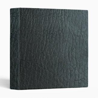 Texture en cuir noire de Faux Classeurs 3 Anneaux