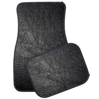 Texture en cuir noire de Faux Tapis De Voiture