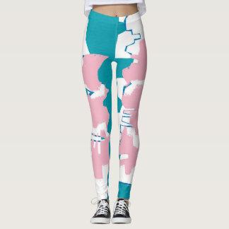 texture geometric legging