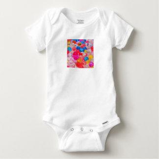 texture jelly balls baby onesie