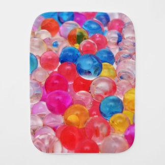 texture jelly balls burp cloth